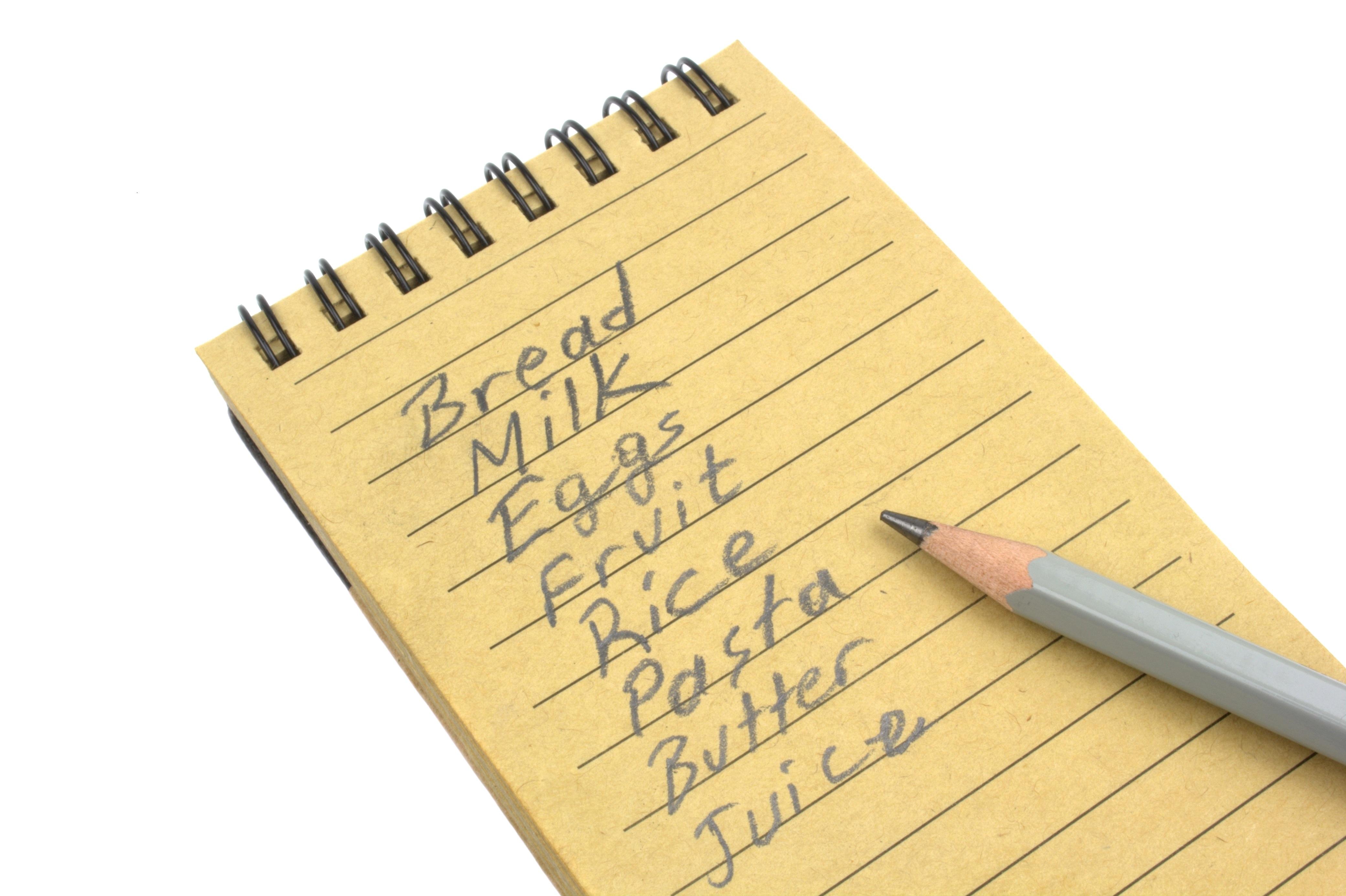 shopping list Â